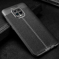 Silikon Hülle Handyhülle Gummi Schutzhülle Flexible Leder Tasche für Xiaomi Redmi 10X Pro 5G Schwarz