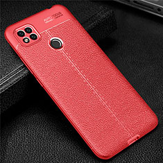 Silikon Hülle Handyhülle Gummi Schutzhülle Flexible Leder Tasche für Xiaomi Redmi 9 India Rot