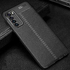 Silikon Hülle Handyhülle Gummi Schutzhülle Flexible Leder Tasche H01 für Huawei Honor Play4 5G Schwarz