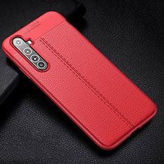 Silikon Hülle Handyhülle Gummi Schutzhülle Flexible Leder Tasche H01 für Realme X50 Pro 5G Rot