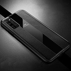 Silikon Hülle Handyhülle Gummi Schutzhülle Flexible Leder Tasche H02 für Huawei Honor 30 Lite 5G Schwarz