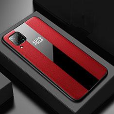 Silikon Hülle Handyhülle Gummi Schutzhülle Flexible Leder Tasche H02 für Huawei P40 Lite Rot