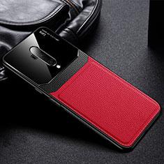 Silikon Hülle Handyhülle Gummi Schutzhülle Flexible Leder Tasche H02 für OnePlus 7T Pro Rot