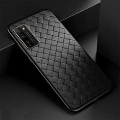 Silikon Hülle Handyhülle Gummi Schutzhülle Flexible Leder Tasche H03 für Huawei Honor 30 Lite 5G Schwarz