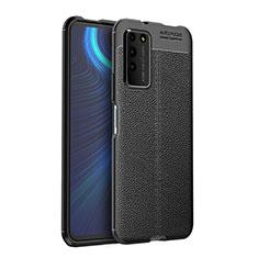 Silikon Hülle Handyhülle Gummi Schutzhülle Flexible Leder Tasche H03 für Huawei Honor X10 5G Schwarz