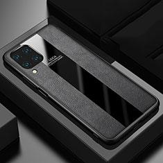 Silikon Hülle Handyhülle Gummi Schutzhülle Flexible Leder Tasche H03 für Huawei P40 Lite Schwarz