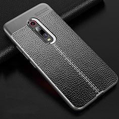 Silikon Hülle Handyhülle Gummi Schutzhülle Flexible Leder Tasche H03 für Xiaomi Mi 9T Pro Grau