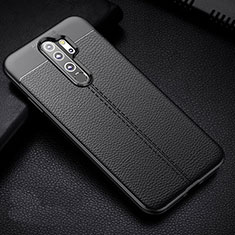 Silikon Hülle Handyhülle Gummi Schutzhülle Flexible Leder Tasche H03 für Xiaomi Redmi Note 8 Pro Schwarz