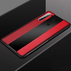 Silikon Hülle Handyhülle Gummi Schutzhülle Flexible Leder Tasche H03 für Xiaomi Redmi Note 8 Rot