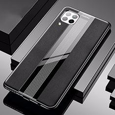 Silikon Hülle Handyhülle Gummi Schutzhülle Flexible Leder Tasche H05 für Huawei P40 Lite Schwarz