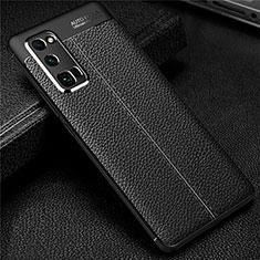 Silikon Hülle Handyhülle Gummi Schutzhülle Flexible Leder Tasche S01 für Huawei Honor 30 Pro Schwarz