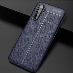 Silikon Hülle Handyhülle Gummi Schutzhülle Flexible Leder Tasche S01 für Realme 6 Pro Blau