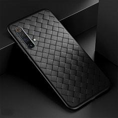 Silikon Hülle Handyhülle Gummi Schutzhülle Flexible Leder Tasche S01 für Realme X3 SuperZoom Schwarz