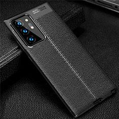 Silikon Hülle Handyhülle Gummi Schutzhülle Flexible Leder Tasche S01 für Samsung Galaxy Note 20 Ultra 5G Schwarz