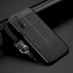 Silikon Hülle Handyhülle Gummi Schutzhülle Flexible Leder Tasche S02 für Realme X3 SuperZoom Schwarz