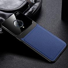 Silikon Hülle Handyhülle Gummi Schutzhülle Flexible Leder Tasche S02 für Vivo Nex 3 Blau