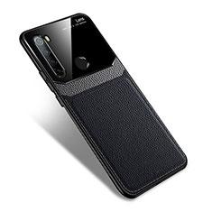 Silikon Hülle Handyhülle Gummi Schutzhülle Flexible Leder Tasche S02 für Xiaomi Redmi Note 8 Schwarz