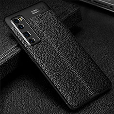 Silikon Hülle Handyhülle Gummi Schutzhülle Flexible Leder Tasche S03 für Huawei Nova 7 Pro 5G Schwarz