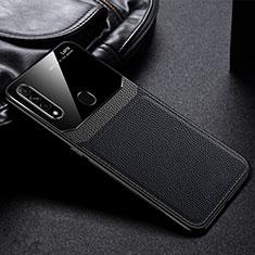 Silikon Hülle Handyhülle Gummi Schutzhülle Flexible Leder Tasche S03 für Oppo A31 Schwarz
