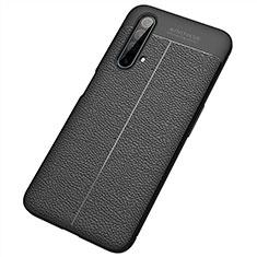 Silikon Hülle Handyhülle Gummi Schutzhülle Flexible Leder Tasche S04 für Realme X50 5G Schwarz
