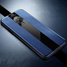Silikon Hülle Handyhülle Gummi Schutzhülle Flexible Leder Tasche S04 für Vivo Nex 3 Blau