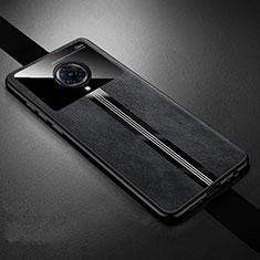 Silikon Hülle Handyhülle Gummi Schutzhülle Flexible Leder Tasche S06 für Vivo Nex 3 Schwarz