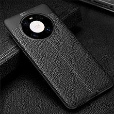 Silikon Hülle Handyhülle Gummi Schutzhülle Flexible Leder Tasche U01 für Huawei Mate 40 Schwarz