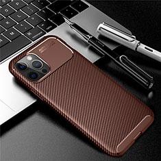 Silikon Hülle Handyhülle Gummi Schutzhülle Flexible Tasche Köper für Apple iPhone 12 Pro Max Braun