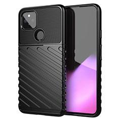 Silikon Hülle Handyhülle Gummi Schutzhülle Flexible Tasche Köper für Google Pixel 4a 5G Schwarz