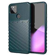 Silikon Hülle Handyhülle Gummi Schutzhülle Flexible Tasche Köper für Google Pixel 5 XL 5G Nachtgrün