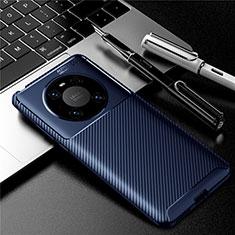Silikon Hülle Handyhülle Gummi Schutzhülle Flexible Tasche Köper für Huawei Mate 40 Blau