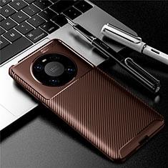 Silikon Hülle Handyhülle Gummi Schutzhülle Flexible Tasche Köper für Huawei Mate 40 Pro Braun