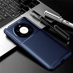Silikon Hülle Handyhülle Gummi Schutzhülle Flexible Tasche Köper für Huawei Mate 40 Pro+ Plus Blau