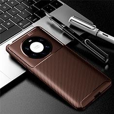 Silikon Hülle Handyhülle Gummi Schutzhülle Flexible Tasche Köper für Huawei Mate 40 Pro+ Plus Braun