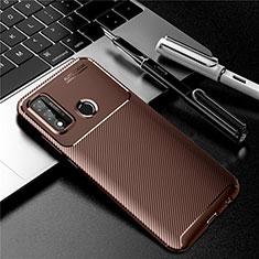 Silikon Hülle Handyhülle Gummi Schutzhülle Flexible Tasche Köper für Huawei P Smart (2020) Braun