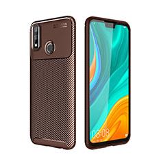 Silikon Hülle Handyhülle Gummi Schutzhülle Flexible Tasche Köper für Huawei Y8s Braun