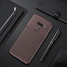 Silikon Hülle Handyhülle Gummi Schutzhülle Flexible Tasche Köper für LG G8 ThinQ Braun