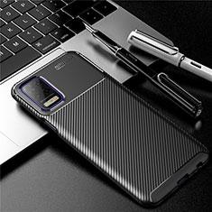 Silikon Hülle Handyhülle Gummi Schutzhülle Flexible Tasche Köper für LG Q52 Schwarz