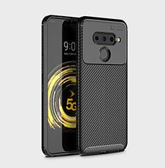 Silikon Hülle Handyhülle Gummi Schutzhülle Flexible Tasche Köper für LG V50 ThinQ 5G Schwarz
