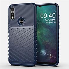 Silikon Hülle Handyhülle Gummi Schutzhülle Flexible Tasche Köper für Motorola Moto E (2020) Blau