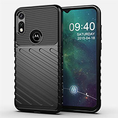 Silikon Hülle Handyhülle Gummi Schutzhülle Flexible Tasche Köper für Motorola Moto E (2020) Schwarz