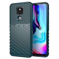 Silikon Hülle Handyhülle Gummi Schutzhülle Flexible Tasche Köper für Motorola Moto E7 Plus Nachtgrün