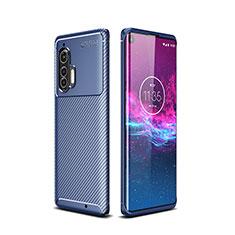 Silikon Hülle Handyhülle Gummi Schutzhülle Flexible Tasche Köper für Motorola Moto Edge Plus Blau