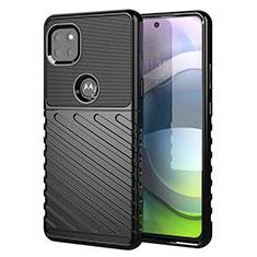 Silikon Hülle Handyhülle Gummi Schutzhülle Flexible Tasche Köper für Motorola Moto G 5G Schwarz
