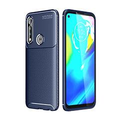 Silikon Hülle Handyhülle Gummi Schutzhülle Flexible Tasche Köper für Motorola Moto G Power Blau