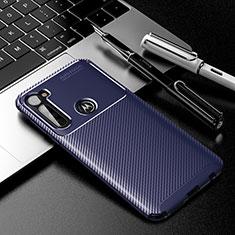 Silikon Hülle Handyhülle Gummi Schutzhülle Flexible Tasche Köper für Motorola Moto G Stylus Blau