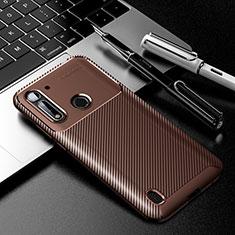 Silikon Hülle Handyhülle Gummi Schutzhülle Flexible Tasche Köper für Motorola Moto G8 Power Lite Braun