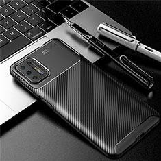 Silikon Hülle Handyhülle Gummi Schutzhülle Flexible Tasche Köper für Motorola Moto G9 Plus Schwarz