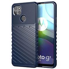Silikon Hülle Handyhülle Gummi Schutzhülle Flexible Tasche Köper für Motorola Moto G9 Power Blau