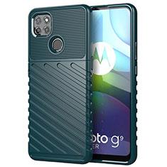 Silikon Hülle Handyhülle Gummi Schutzhülle Flexible Tasche Köper für Motorola Moto G9 Power Grün